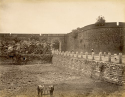 [Unidentified view inside a fort, probably Seringapatam.]